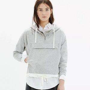 Madewell coated windwake hoodie anorak jacket xs